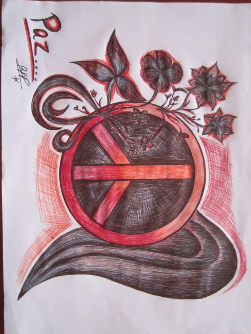 Ilustración en Bolígrafo..  2