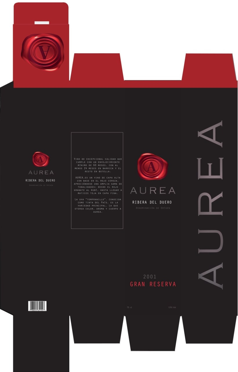 PACKAGING + DISEÑO LOGO CORPORATIVO VINO AUREA 10