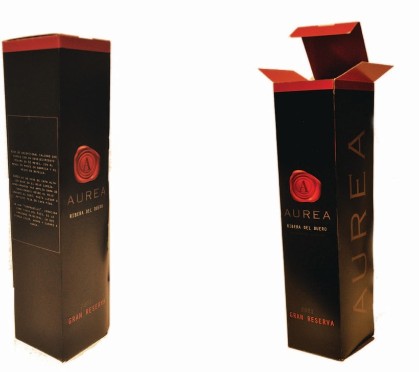 PACKAGING + DISEÑO LOGO CORPORATIVO VINO AUREA 12
