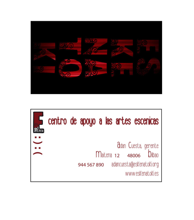 Eskenatoki business card  1