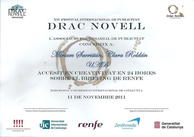 Premio DRAC NOVELL creatividad 24h 5