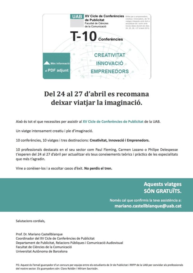 XV Cicle de Conferències de Publicitat 2