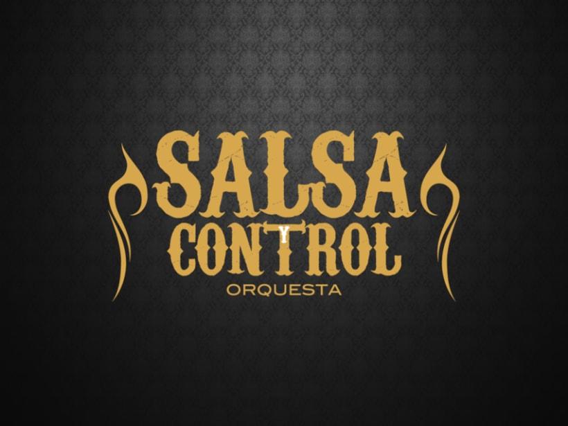 Logotype Salsa y Control orquesta 5