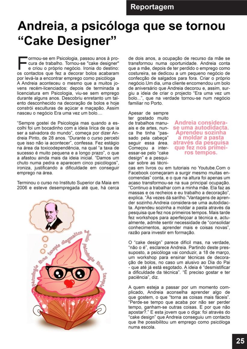 llustración Revista / Maquetación reportaje 1