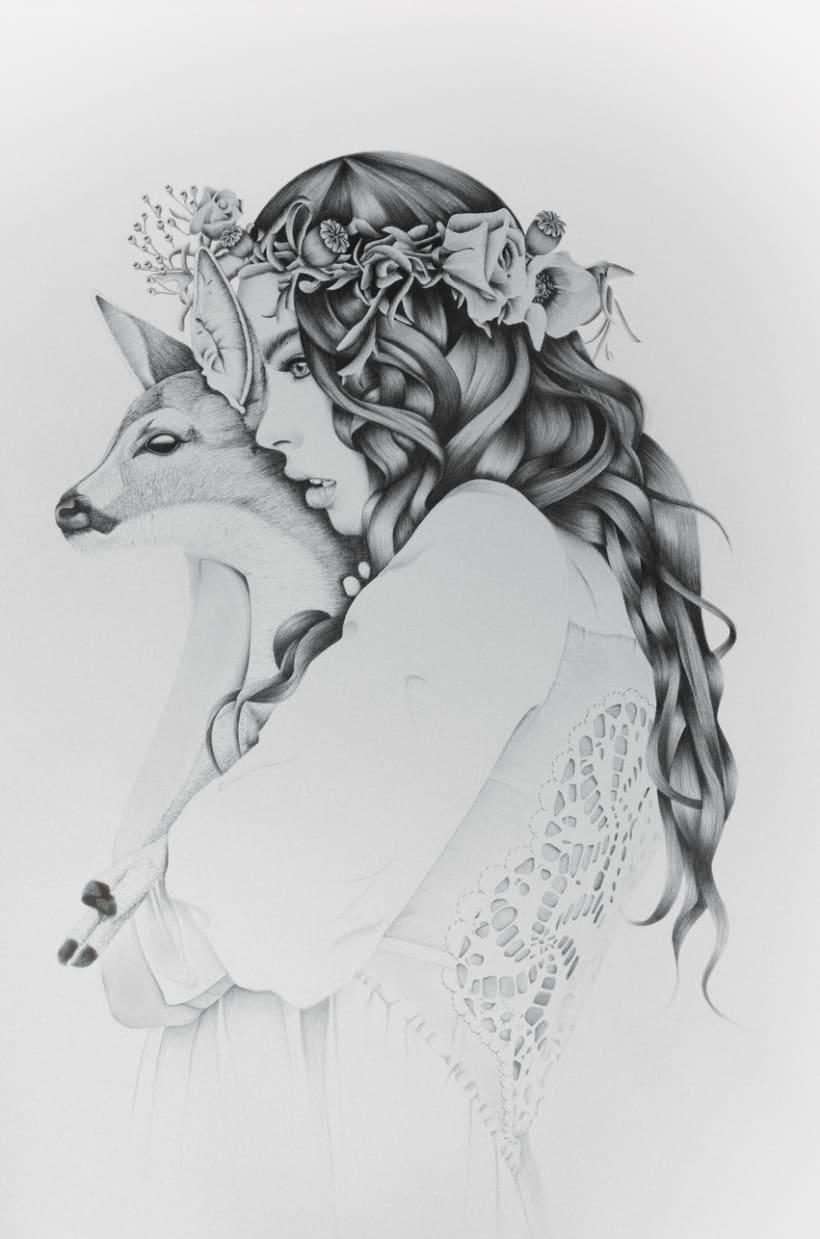 Deer Woman Illustration Kata Zapata 2