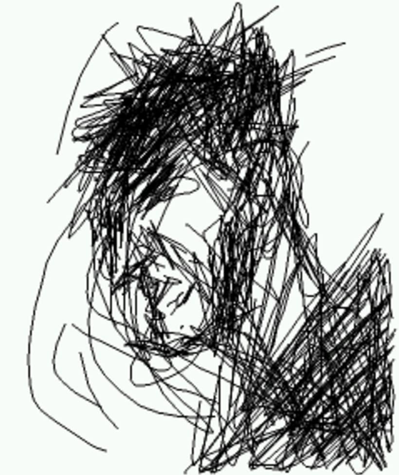 dedo y programa de dibujo del movil. 4