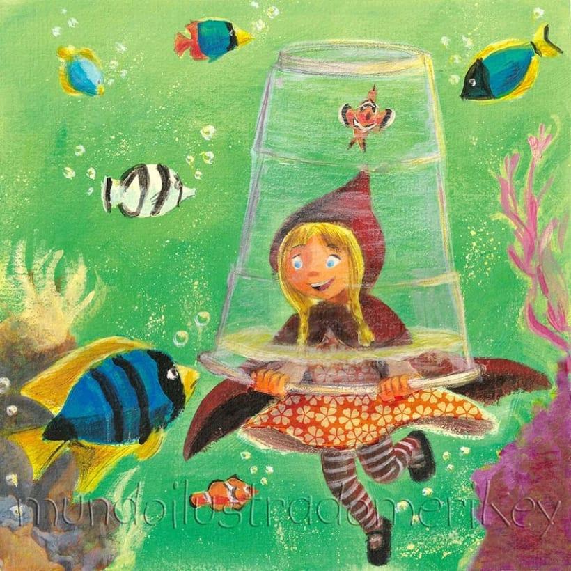 Caperucita, vaso y fondo del mar 4