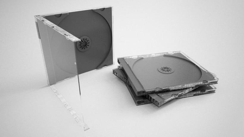 3D Caja CD 2