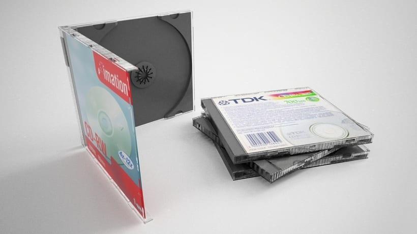 3D Caja CD 3