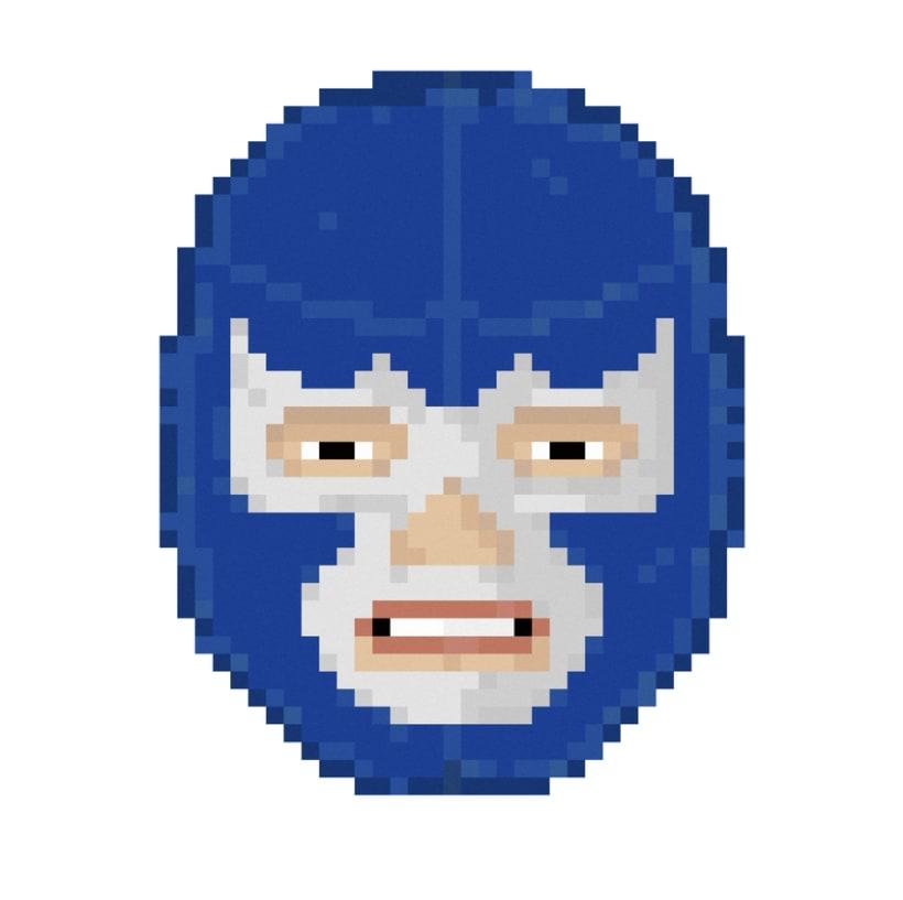 Lucha Libre pixel-portraits. 12