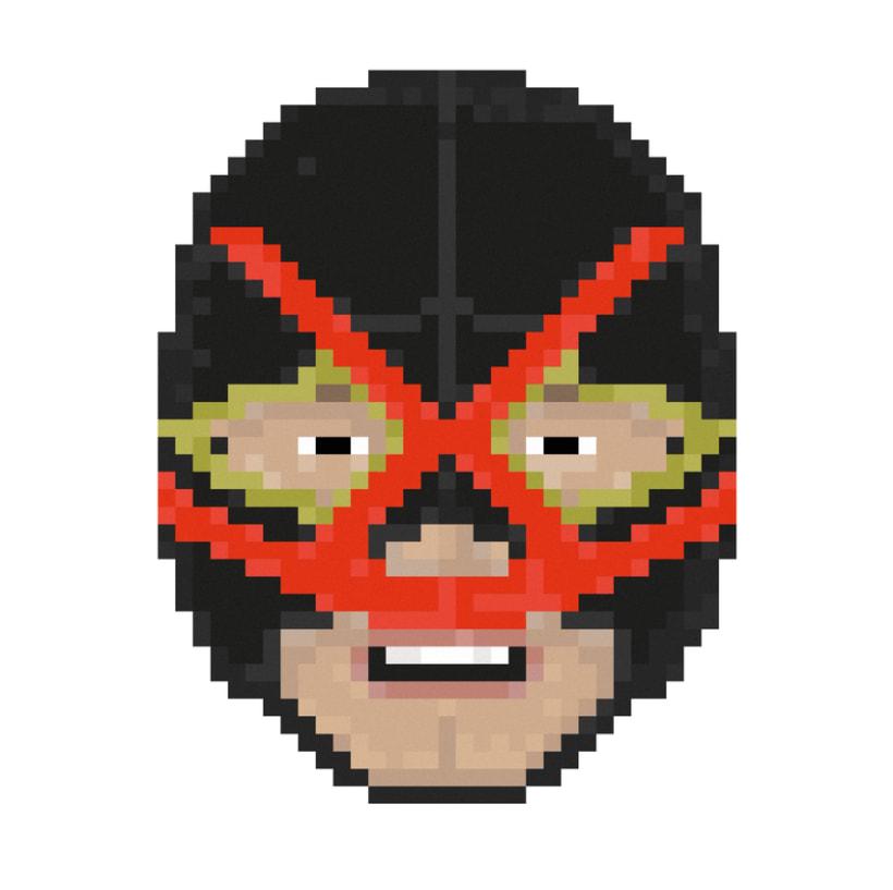 Lucha Libre pixel-portraits. 8