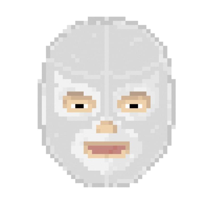 Lucha Libre pixel-portraits. 6