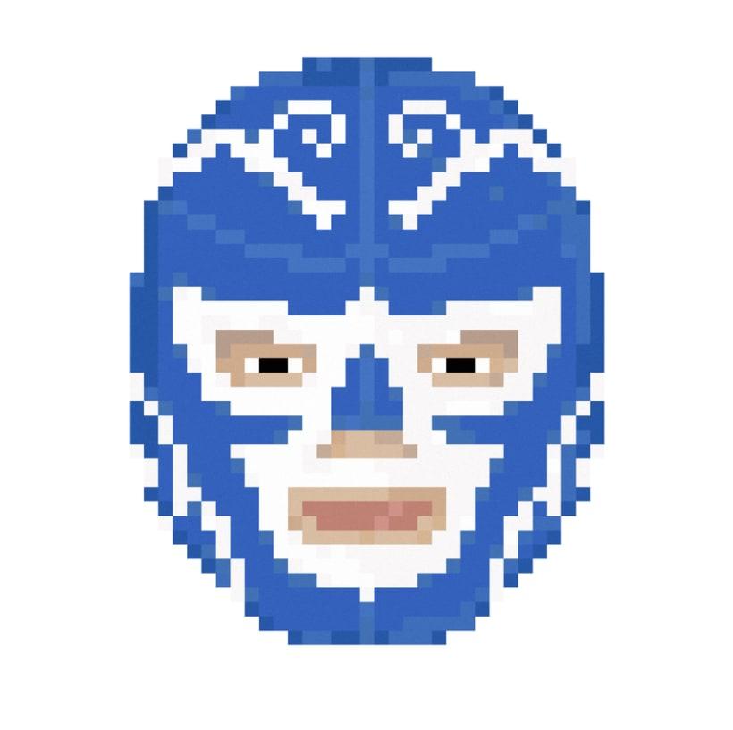Lucha Libre pixel-portraits. 4