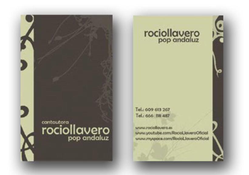 Tarjetas de visita para Rocio Llavero 1