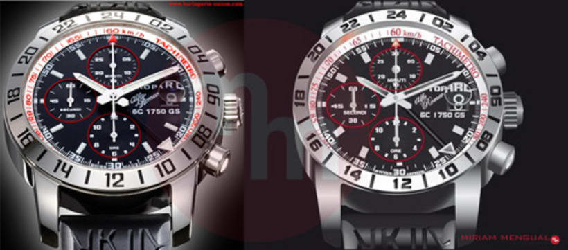 Ilustración propia del reloj Alfa Romeo 1