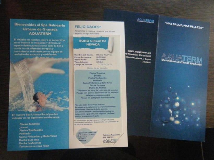 diseño chequera y bono para Aquaterm 1