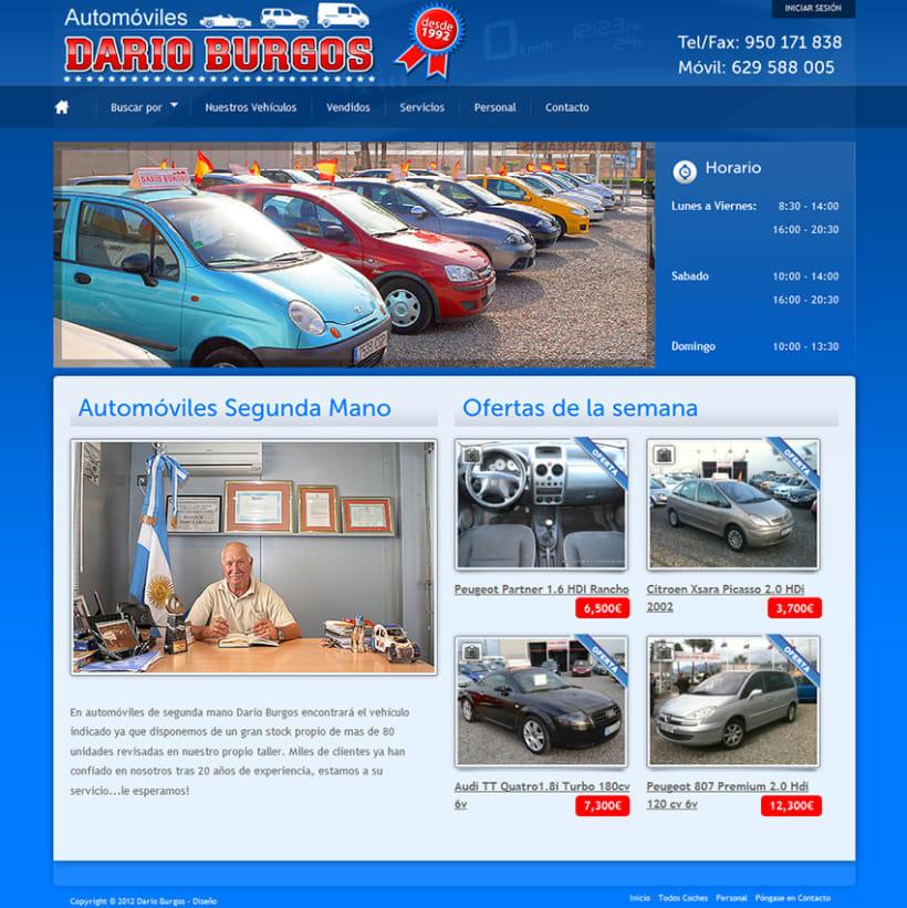 Venta de coches - Desarrollo sitios web con Wordpress. Desarrollador de Wordpress 1