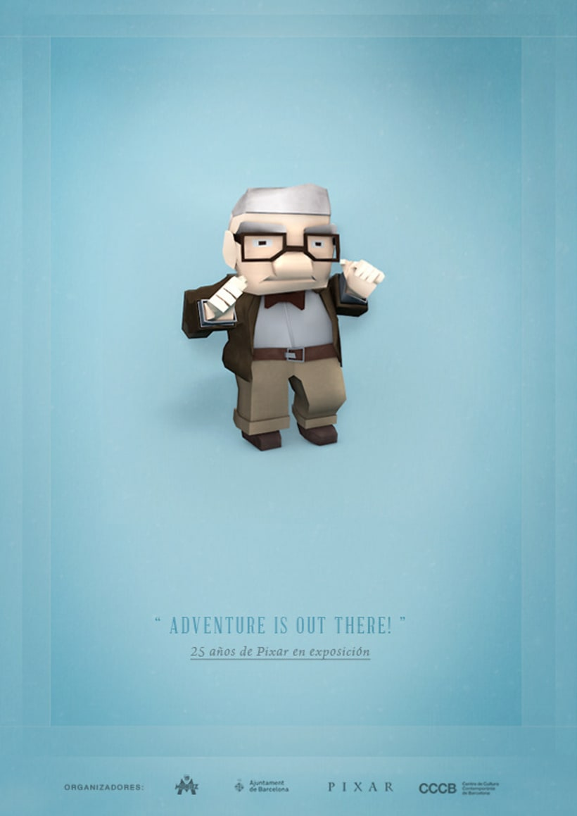 3 Postales para exposición sobre Pixar 4