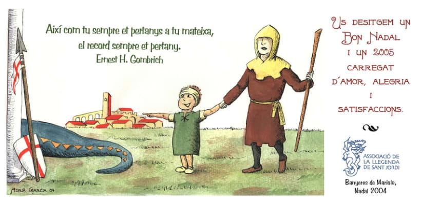 Llegenda Sant Jordi - Christmas Card 1