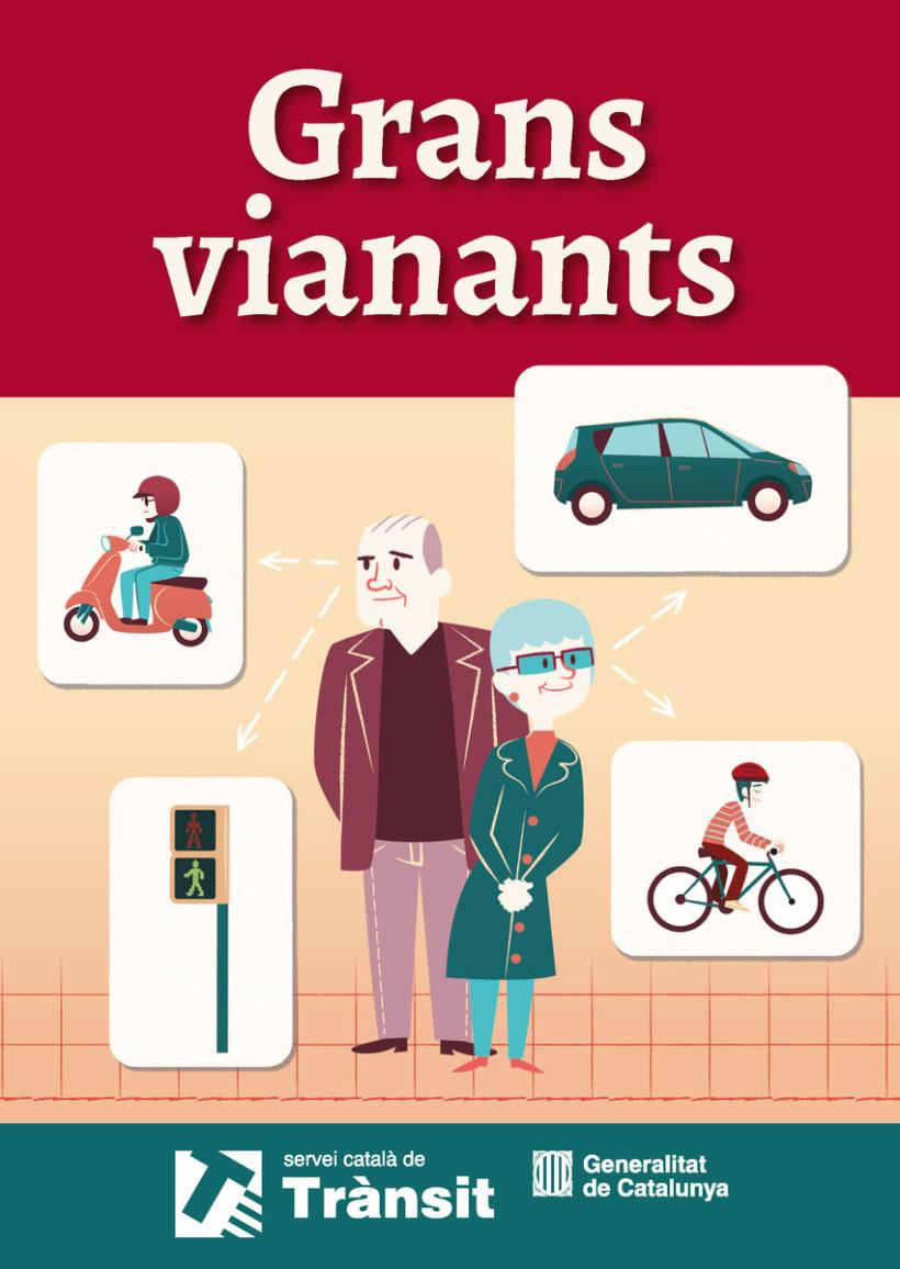 EDITORIAL - Libreto Grans Vianants (proyecto gráfico, concepto de las ilustraciones y maquetación) 1