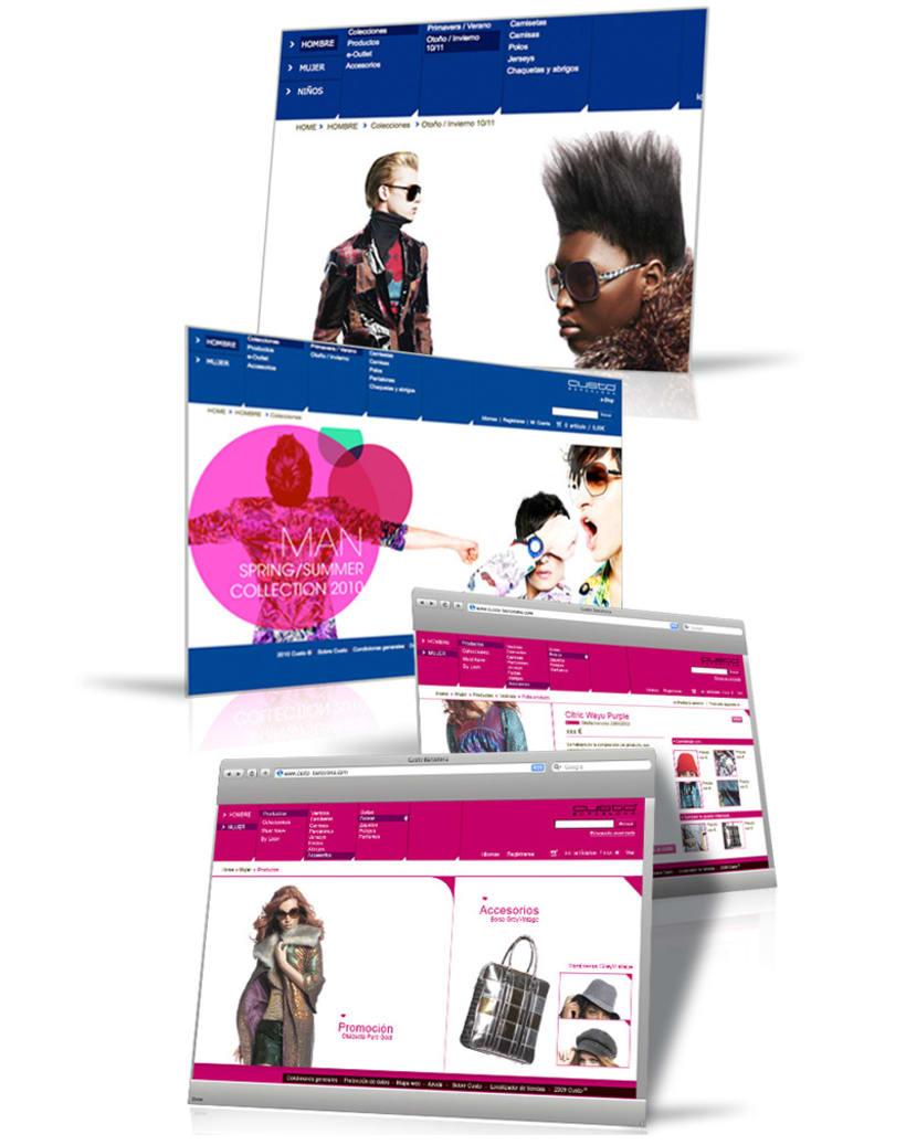 Web design, interface design 4