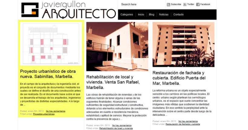 Diseño & Desarrollo web J.GULLÓN ARQUITECTO 0