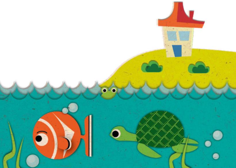 Ilustración infantil para Sapos y Princesas 2