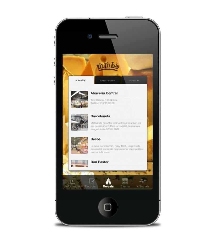 Mercats de Barcelona - app  3