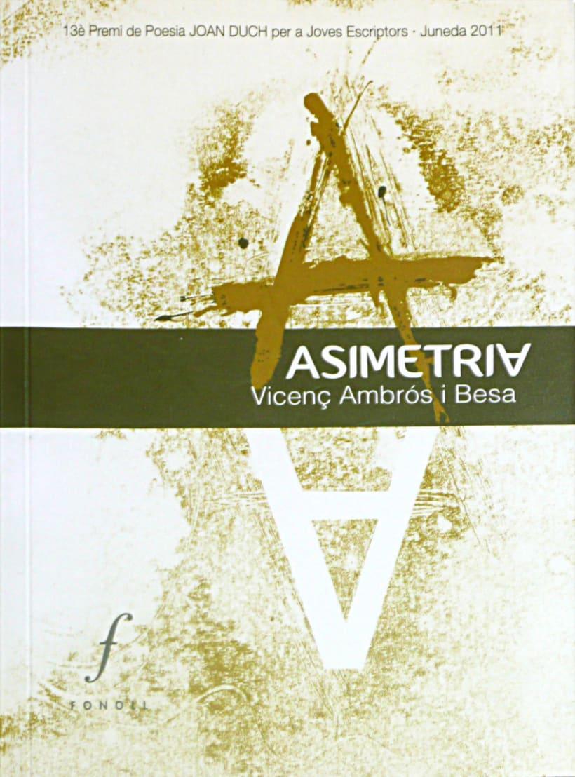 Disseny i il·lustració coberta Asimetria 1