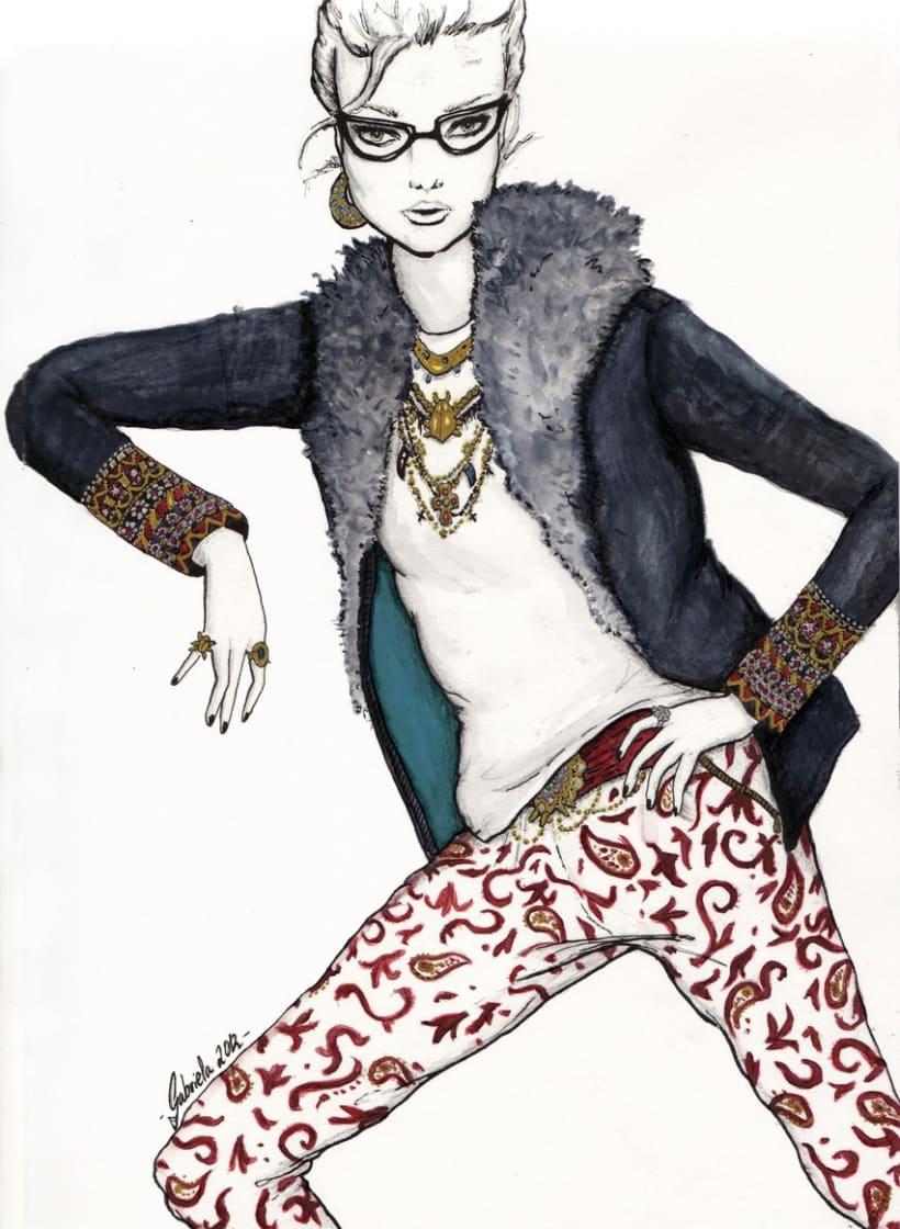Ilustración de moda. GRANATE 3