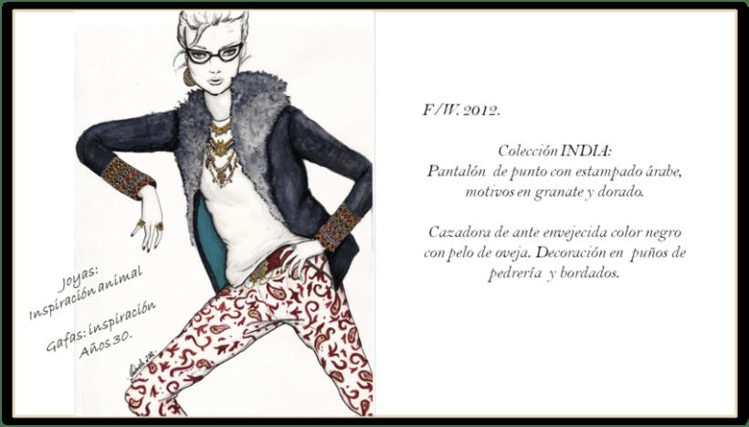 Ilustración de moda. GRANATE 1