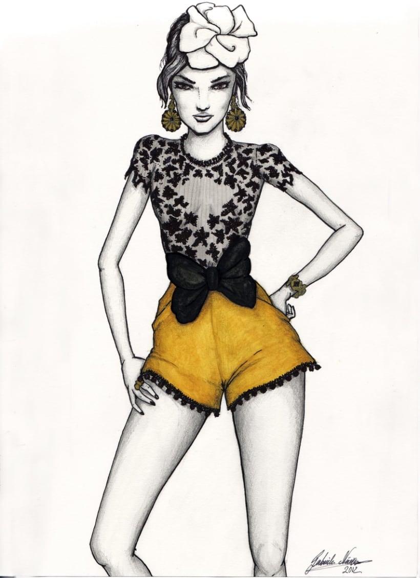 Ilustraci n de moda domestika - Pinturas de moda ...