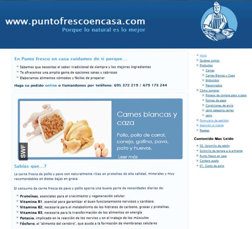 Web development and Design puntofrecoencasa.com 2