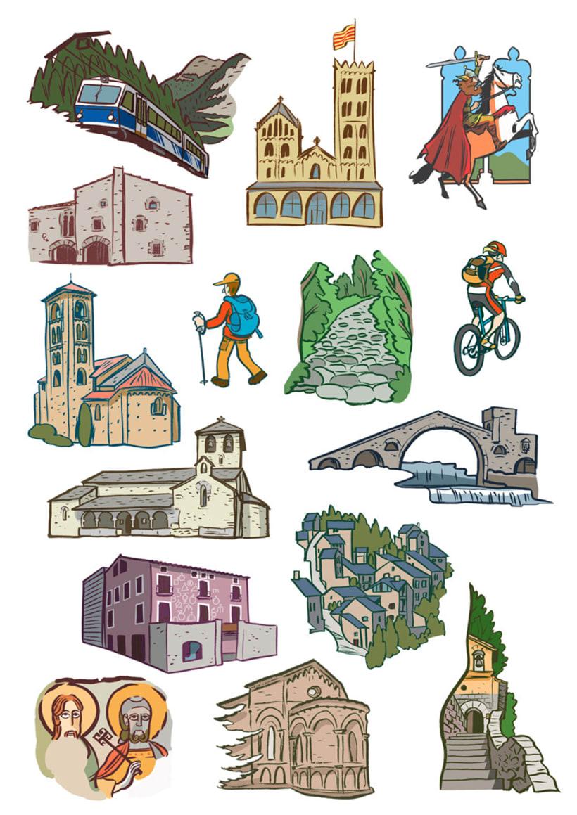 Miniatures per a mapes turístics del Ripollès 1
