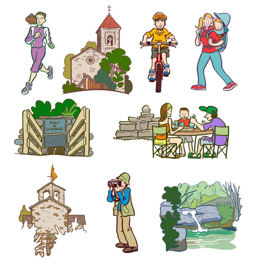 Miniatures per a mapes turístics del Ripollès 2
