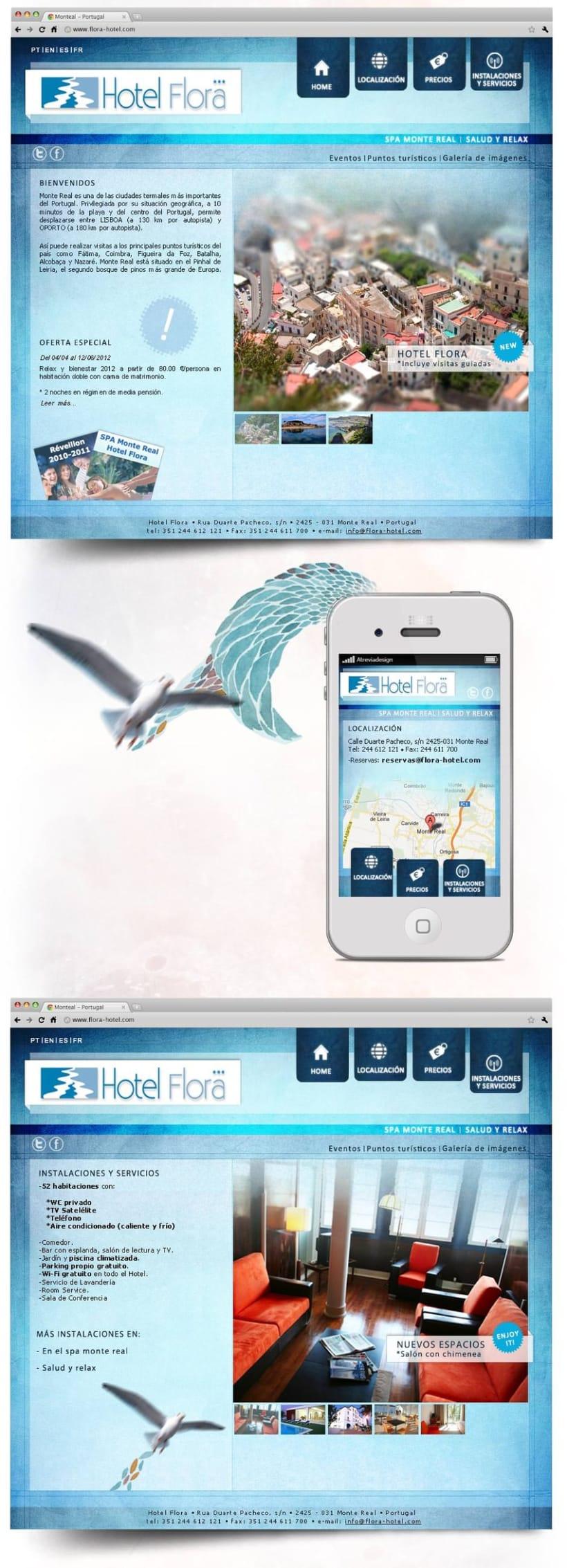 Diseño web para hotel de aguas Termales 2