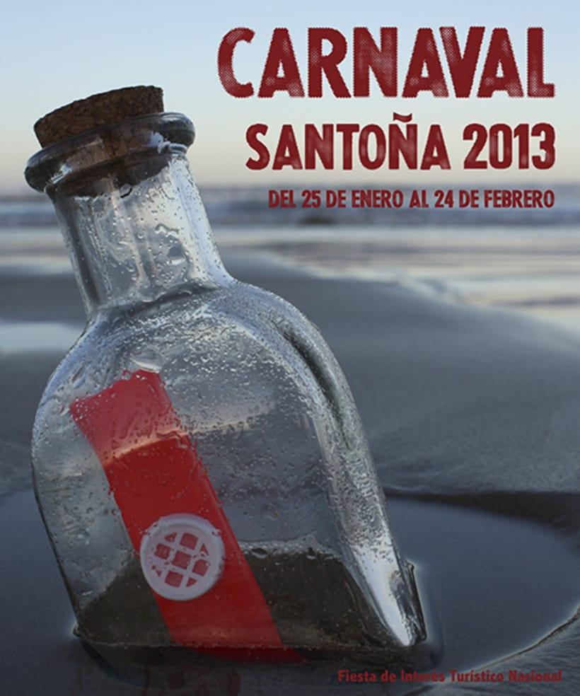 Propuesta cartel CARNAVALES SANTOÑA 2013 2