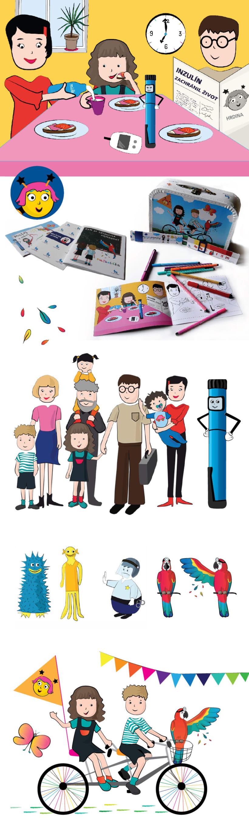 Libro, dibujos para colorear, memorama y maletín infantil para niños ...