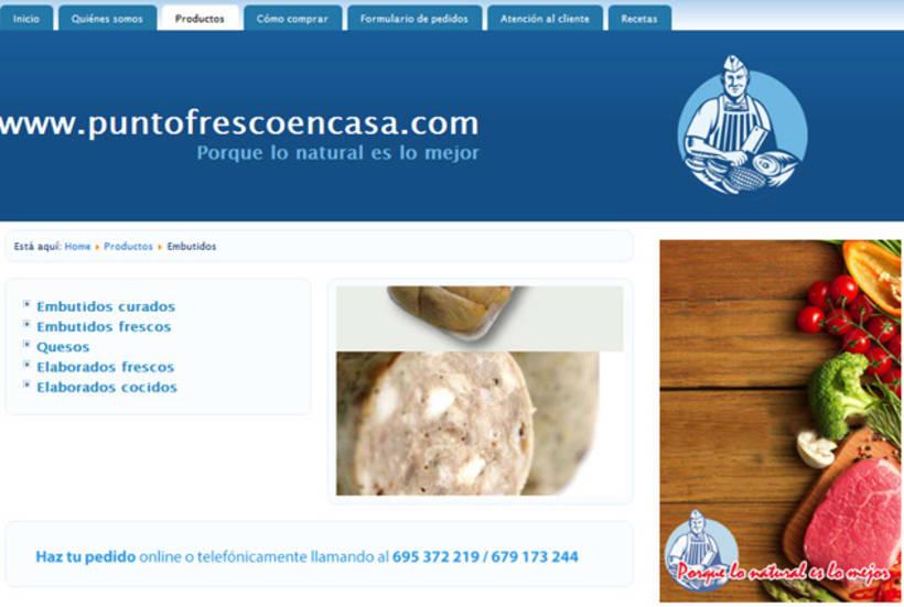 Web development and Design puntofrecoencasa.com 3