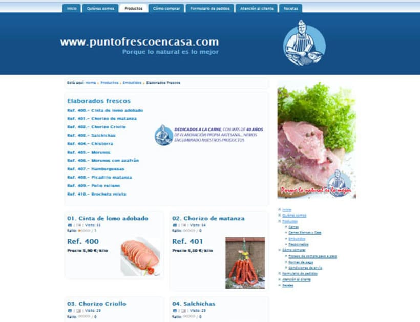 Web development and Design puntofrecoencasa.com 4