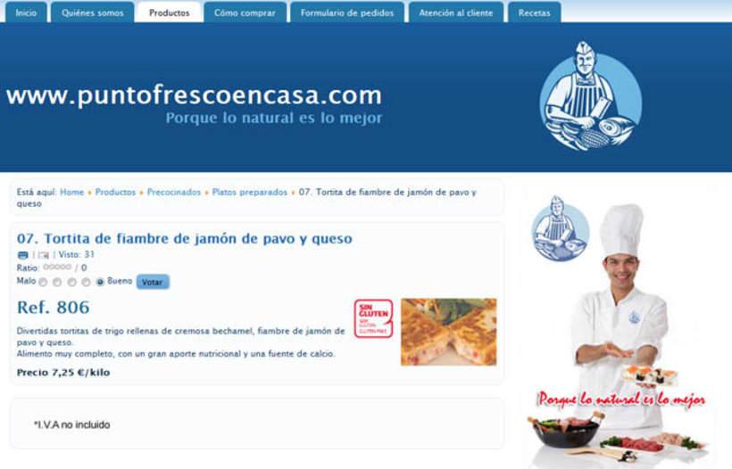 Web development and Design puntofrecoencasa.com 5