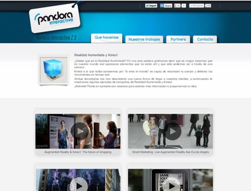 Diseño web PandoraInt 3