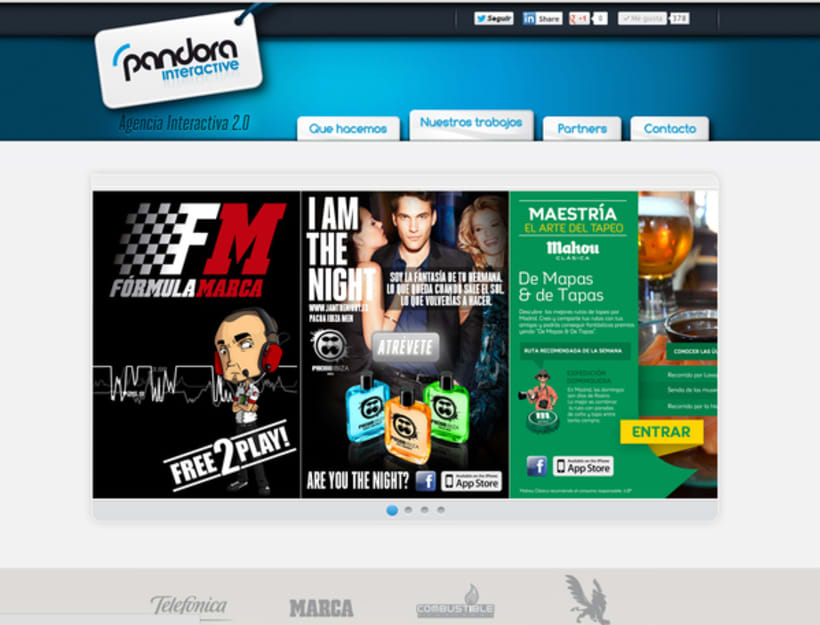 Diseño web PandoraInt 2