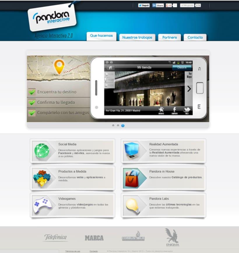 Diseño web PandoraInt 1