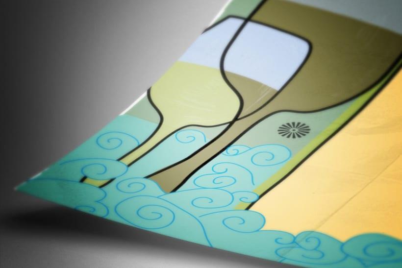 Cartel presentado en Concurso Francisco Mantecón - Bodegas Gauda 2