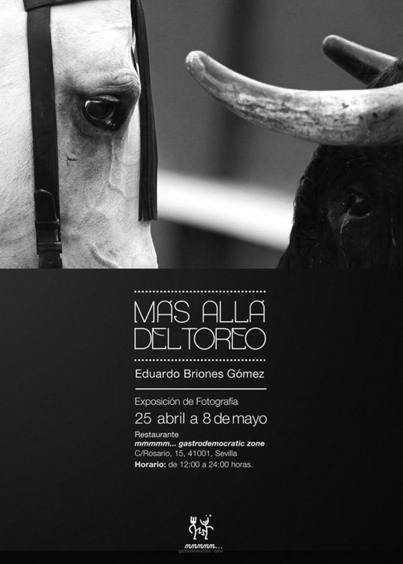 Cartel Exposición Fotográfica: Más allá del toreo. 1