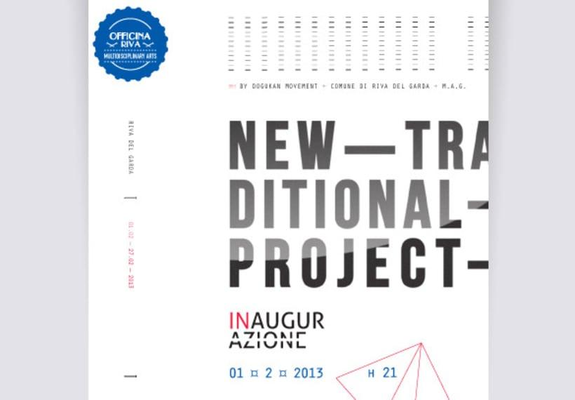 """Proyecto de corporate para la exposición colectiva """"New Tradicional Project""""* 8"""