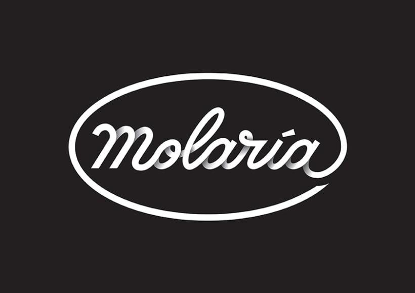 Logo lettering molar a domestika Calligraphy logo