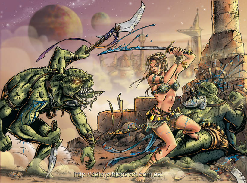 Ilustraciones para historietas y cuentos. 1