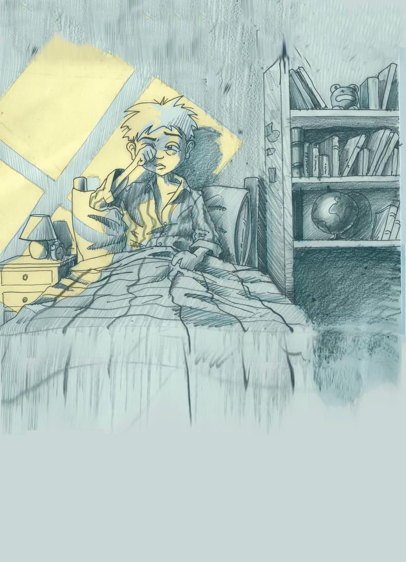 Ilustraciones para historietas y cuentos. 8